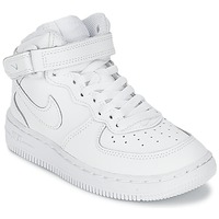 Shoes Children Low top trainers Nike AIR FORCE 1 MID CADET White