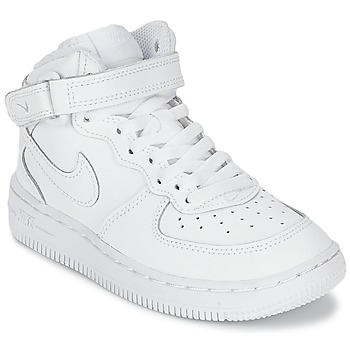Shoes Children Hi top trainers Nike AIR FORCE 1 MID CADET White
