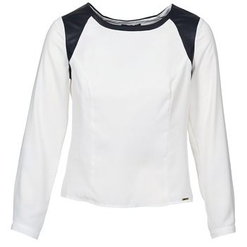 Clothing Women Tops / Blouses La City LAETITIA Ecru / Black