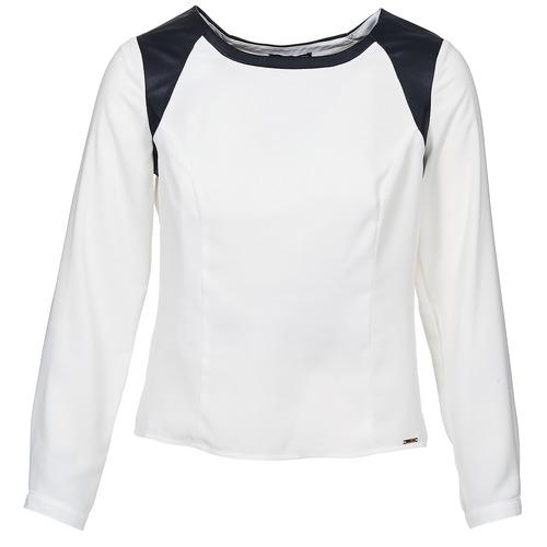 Clothing Women Tops / Blouses La City LAETITIA Ecru / Black