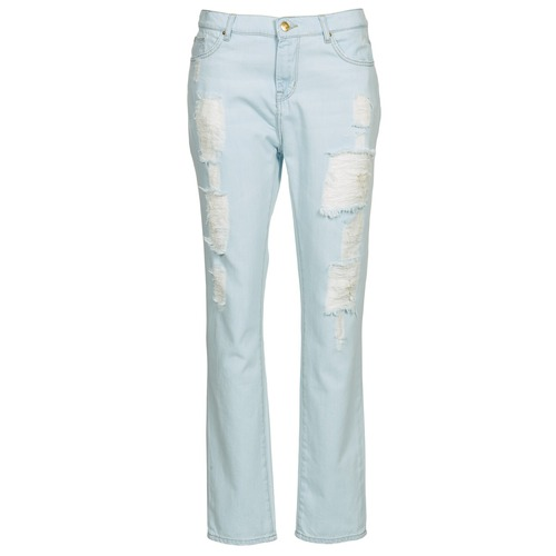 Clothing Women straight jeans Cimarron BOY Blue / Clear