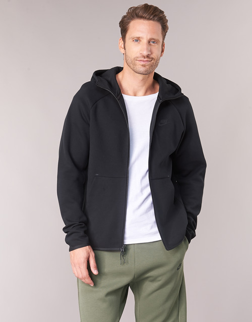 Clothing Men Sweaters Nike TECHFLEECE Black