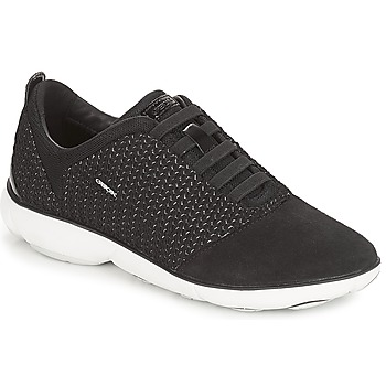 Shoes Women Low top trainers Geox D NEBULA Black
