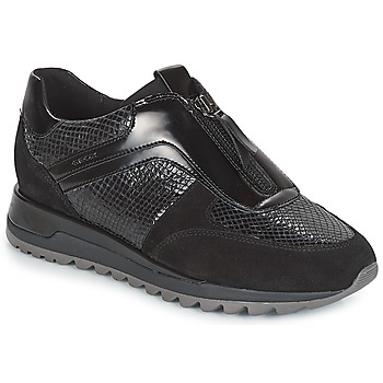 Shoes Women Low top trainers Geox D TABELYA Black