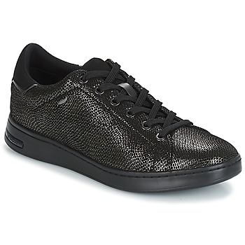 Shoes Women Low top trainers Geox D JAYSEN Grey / Black