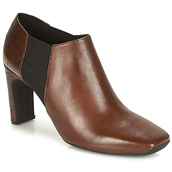 Shoes Women Shoe boots Geox D VIVYANNE HIGH Brown