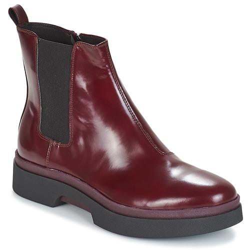 Shoes Women Mid boots Geox D MYLUSE Bordeaux