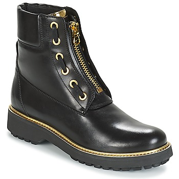 Shoes Women Mid boots Geox D ASHEELY PLUS Black