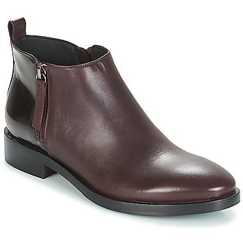 Shoes Women Mid boots Geox DONNA BROGUE Bordeaux