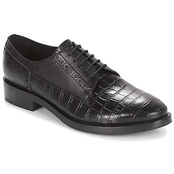 Shoes Women Derby Shoes Geox DONNA BROGUE Black
