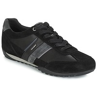 Shoes Men Low top trainers Geox U WELLS Black / Marine