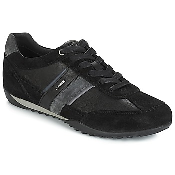 Shoes Men Low top trainers Geox U WELLS Black / Marine