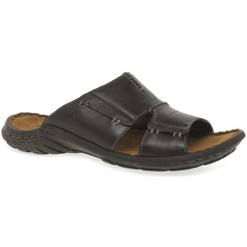 Shoes Men Sandals Josef Seibel Logan Slide Mens Mules brown