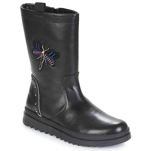 Shoes Girl High boots Geox J GILLYJAW GIRL Black