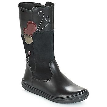 Shoes Children High boots Geox J HADRIEL Black