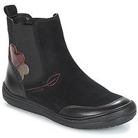 Shoes Children High boots Geox J HADRIEL GIRL Black