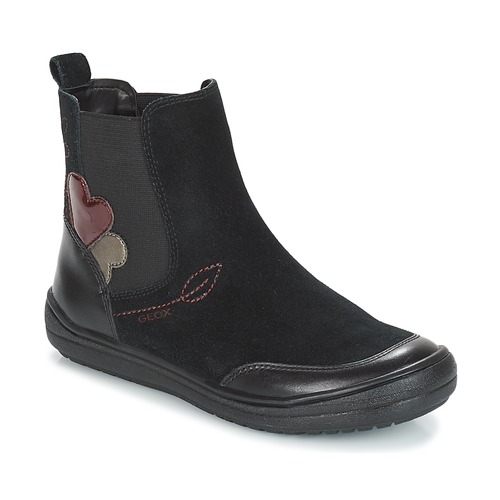 Shoes Girl Mid boots Geox J HADRIEL GIRL Black
