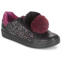 Shoes Girl Low top trainers Geox J DJROCK GIRL Black / Purple