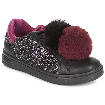 Shoes Girl Low top trainers Geox J DJROCK GIRL Black / Purple
