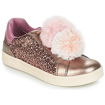 Shoes Girl Low top trainers Geox J DJROCK GIRL Beige / Pink