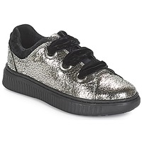 Shoes Girl Low top trainers Geox J DISCOMIX GIRL Silver