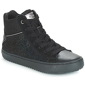 Shoes Girl Hi top trainers Geox J KALISPERA GIRL Black