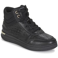Shoes Girl Hi top trainers Geox J AVEUP GIRL Black / Gold