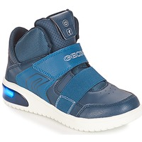 Shoes Boy Low top trainers Geox J XLED BOY Marine