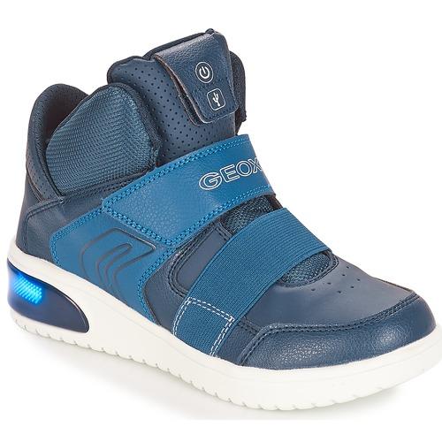 Shoes Boy Hi top trainers Geox J XLED BOY Marine