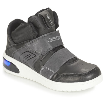 Shoes Boy Hi top trainers Geox J XLED BOY Black