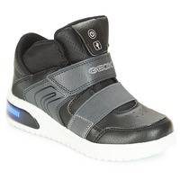 Shoes Boy Hi top trainers Geox J XLED BOY Black
