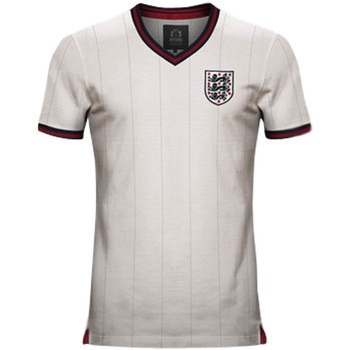 Clothing short-sleeved t-shirts Vintage Football Vintage England Home Soccer Jersey White