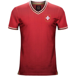 Clothing short-sleeved t-shirts Vintage Football Vintage Switzerland Home Soccer Jersey Red