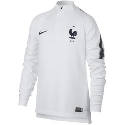 Clothing Long sleeved tee-shirts Nike 2018-2019 France Training Drill Top White