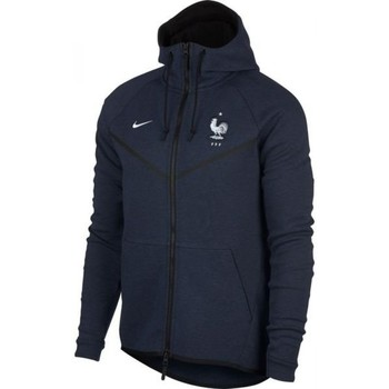 Clothing sweaters Nike 2018-2019 France Authentic Tech Fleece Windrunner Jacket (Obsidi Navy