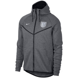 Clothing sweaters Nike 2018-2019 England Authentic Tech Fleece Windrunner Jacket (Carbo Grey