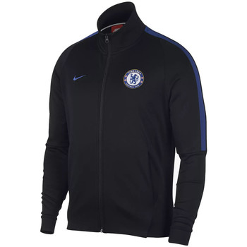 Clothing Track tops Nike 2017-2018 Chelsea Authentic Franchise Jacket (Anthracite) Black