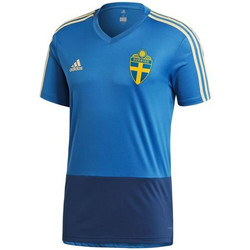 Clothing short-sleeved t-shirts adidas Originals 2018-2019 Sweden Training Shirt (Trace Royal) Blue