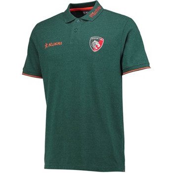 Clothing short-sleeved polo shirts Kukri 2017-2018 Leicester Tigers Players Rugby Pique Polo Green