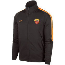 Clothing Track tops Nike 2017-2018 AS Roma Authentic Franchise Jacket (Velvet) Brown