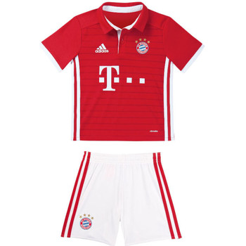 Clothing Children Sets & Outfits adidas Originals 2016-17 Bayern Munich Home Mini Kit (Muller 25) Red