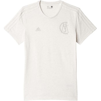 Clothing short-sleeved t-shirts adidas Originals 2016-2017 Real Madrid Graphic BST Tee White