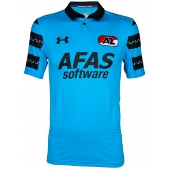 Clothing short-sleeved t-shirts Under Armour 2016-2017 AZ Alkmaar Away Football Shirt Blue
