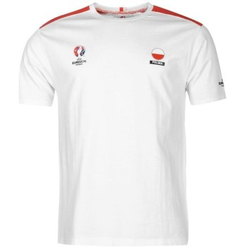 Clothing short-sleeved t-shirts Uksoccershop Poland UEFA Euro 2016 Core T-Shirt White