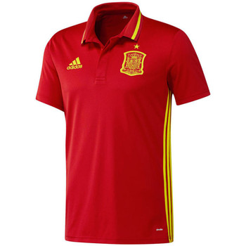 Clothing short-sleeved polo shirts adidas Originals 2016-2017 Spain Climalite Polo Shirt Red