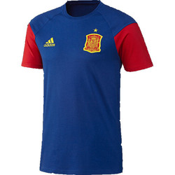 Clothing short-sleeved t-shirts adidas Originals 2016-2017 Spain Training Tee Blue