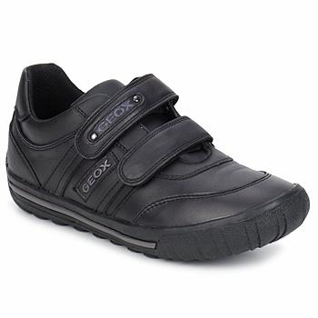 Shoes Children Low top trainers Geox ATLANTE Black