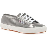 Shoes Women Low top trainers Superga Cotmet 2750 Metallic Canvas Trainers Silver