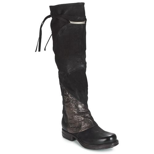 Shoes Women Thigh boots Airstep / A.S.98 SAINT EC PATCH Black