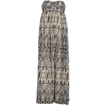 Clothing Women Long Dresses Le Temps des Cerises GOTA Grey / White